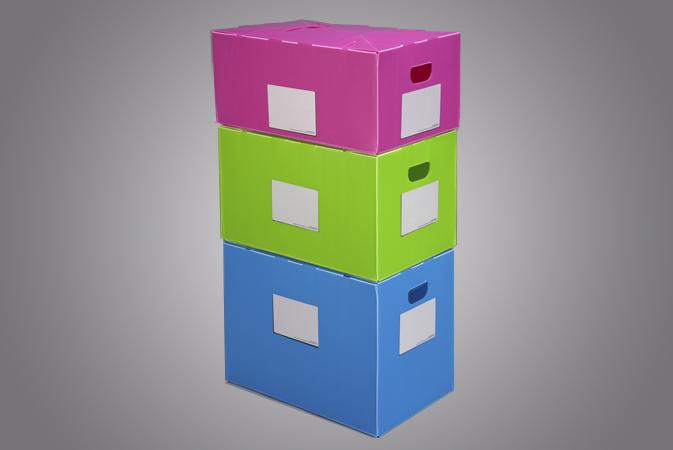 Caja de plástico para archivar